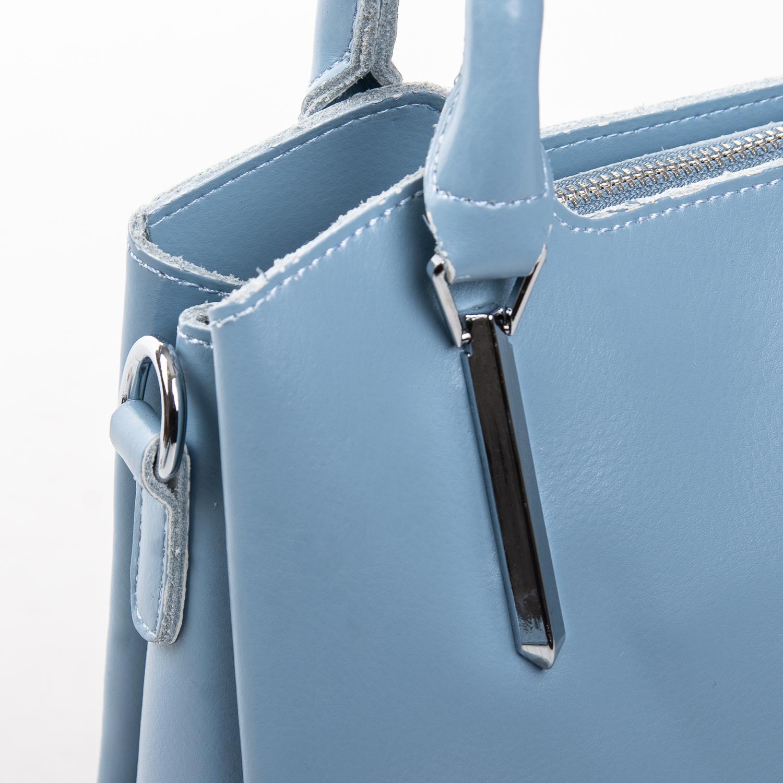 Сумка Женская Классическая кожа ALEX RAI 2-02 8777 light-blue - фото 3