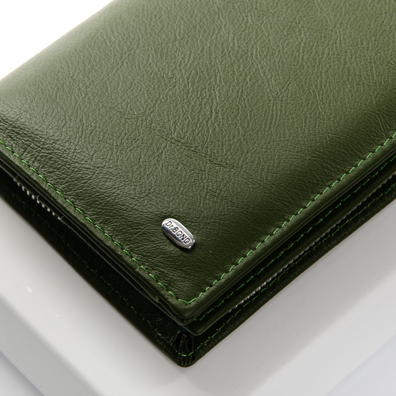 Кошелек Classic кожа DR. BOND WMB-3M dark-green - фото 3