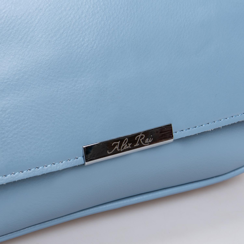 Сумка Женская Клатч кожа ALEX RAI 2-01 2227 light-blue - фото 3