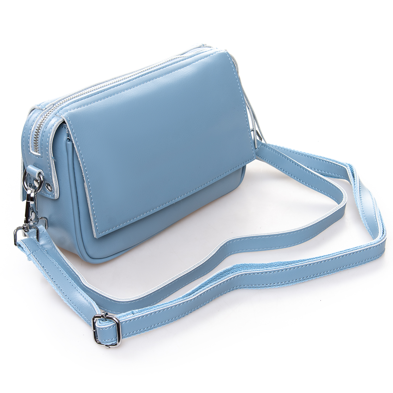 Сумка Женская Клатч кожа ALEX RAI 2-01 2227 light-blue - фото 4