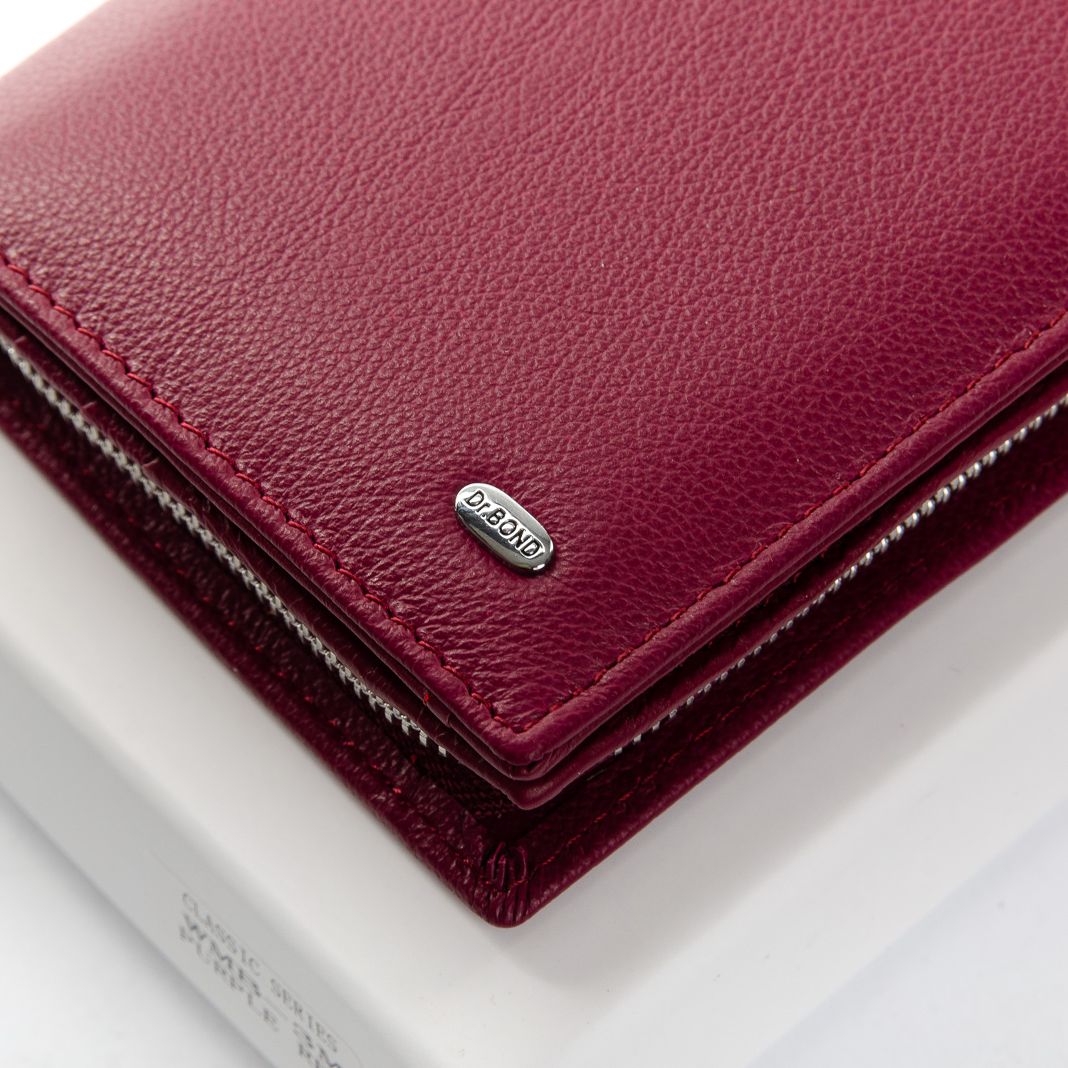 Кошелек Classic кожа DR. BOND WMB-3M plum-red - фото 3