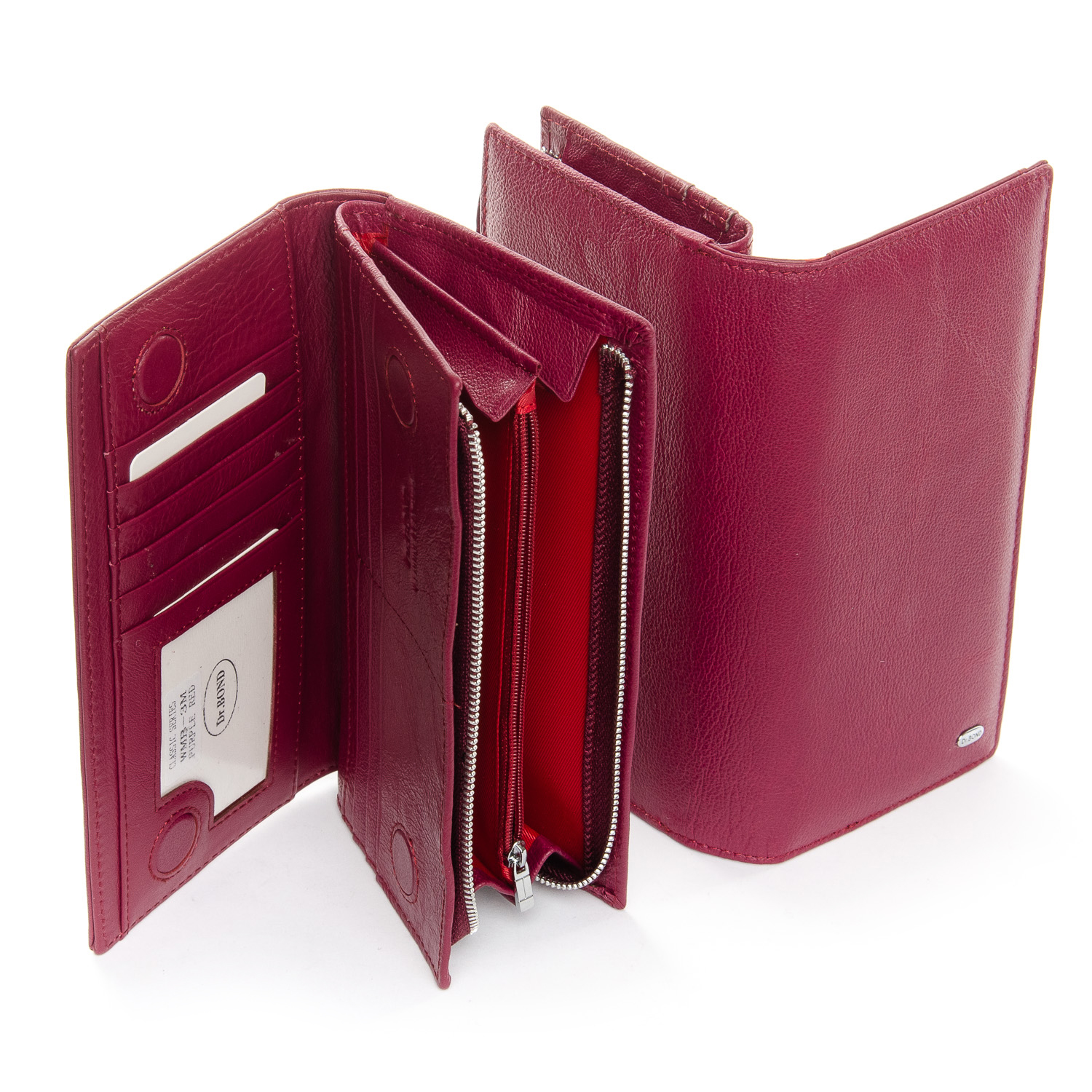 Кошелек Classic кожа DR. BOND WMB-3M plum-red - фото 4