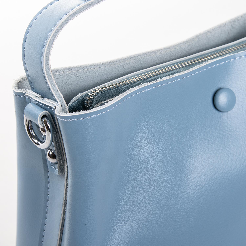 Сумка Женская Классическая кожа ALEX RAI 2-02 8702 light-blue - фото 3