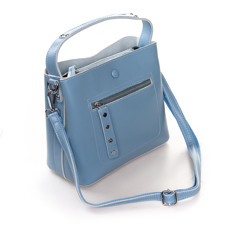 Сумка Женская Классическая кожа ALEX RAI 2-02 8702 light-blue - фото 4