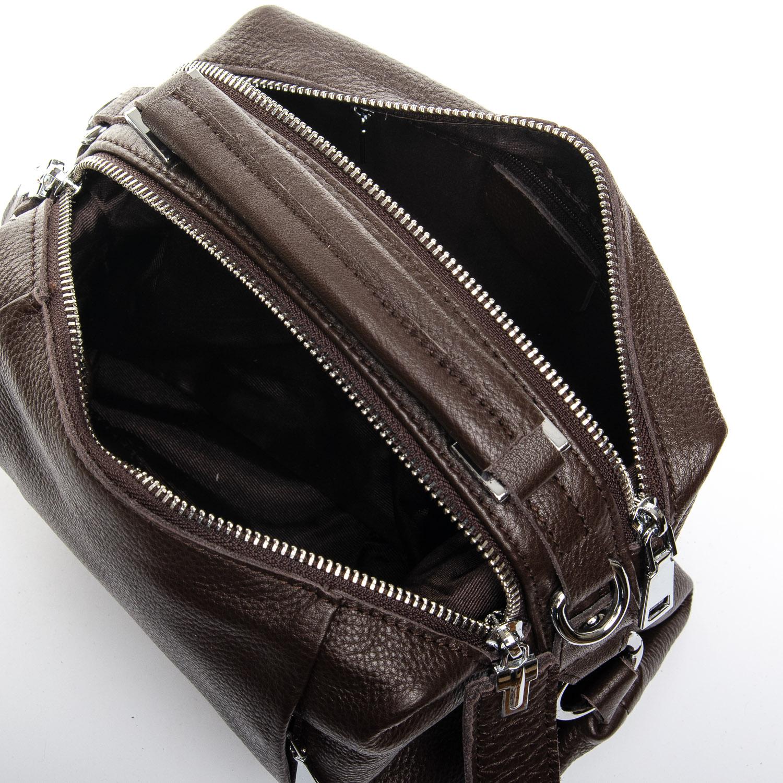 Сумка Женская Классическая кожа ALEX RAI 2-03 8762-9 dark-brown - фото 5