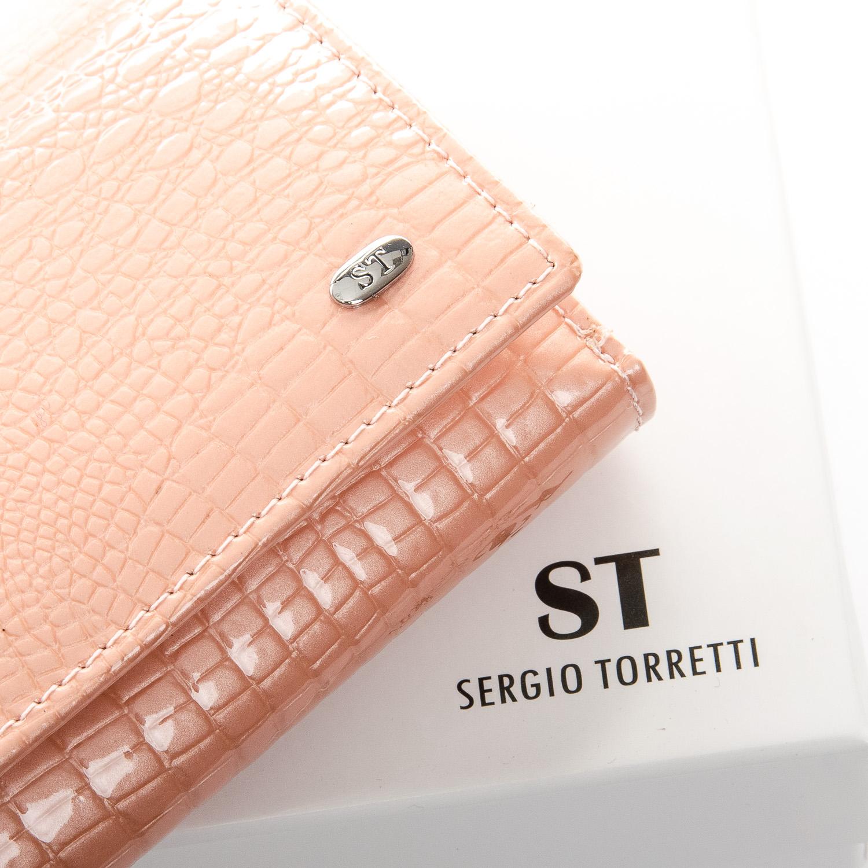 Кошелек LR кожа-лак SERGIO TORRETTI WS-10 pink - фото 3