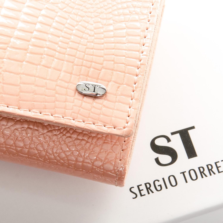 Кошелек LR кожа-лак SERGIO TORRETTI W501 pink - фото 3