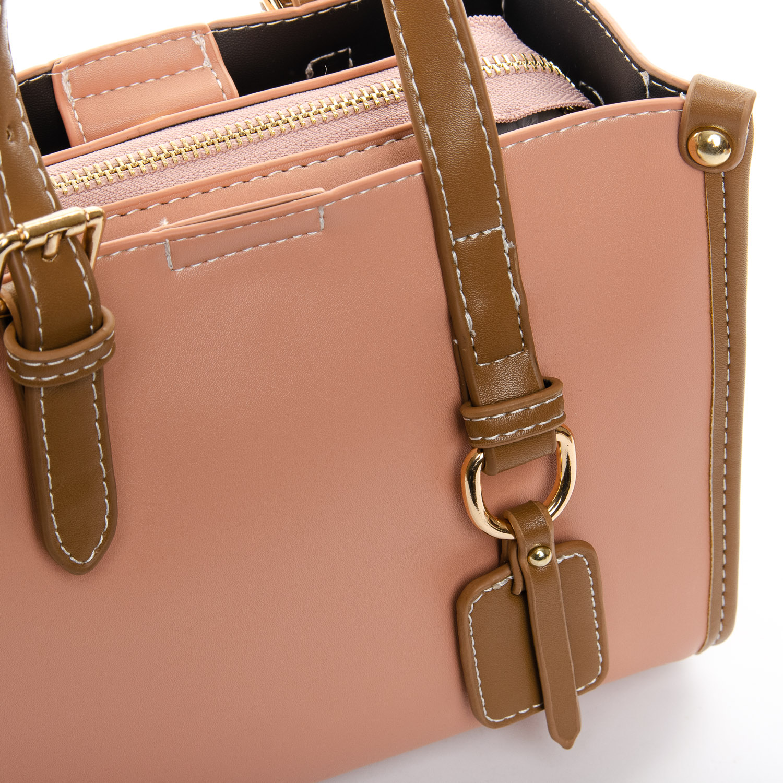 Сумка Женская Классическая иск-кожа FASHION 1-04 W106 pink - фото 3