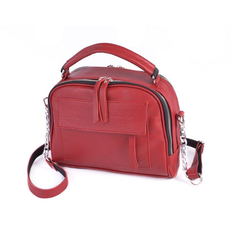 Сумка Женская Классическая кожа М 198 red