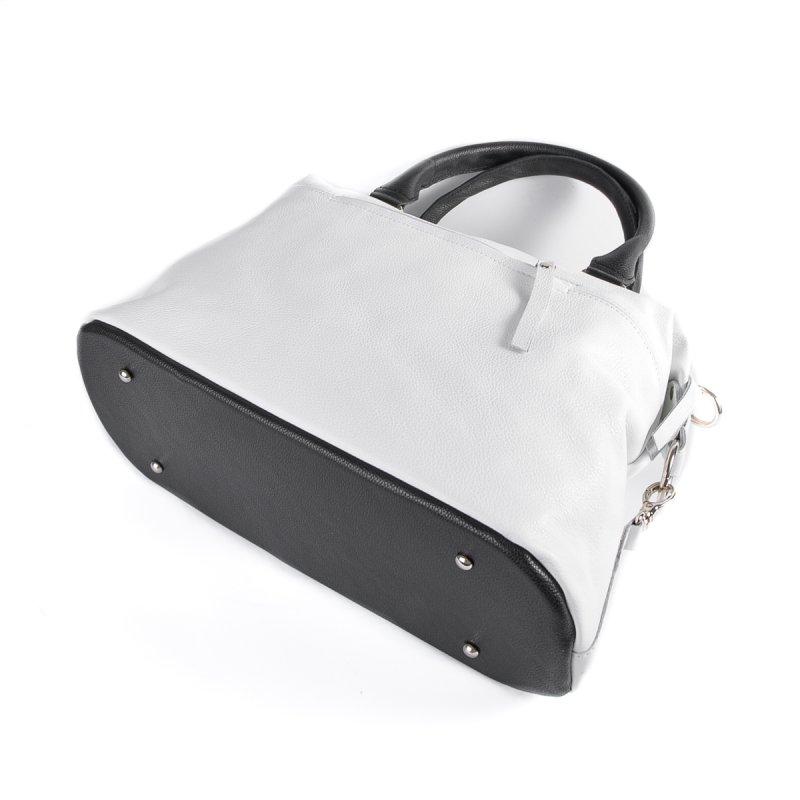 Сумка Женская Классическая кожа М 240 white-black - фото 4