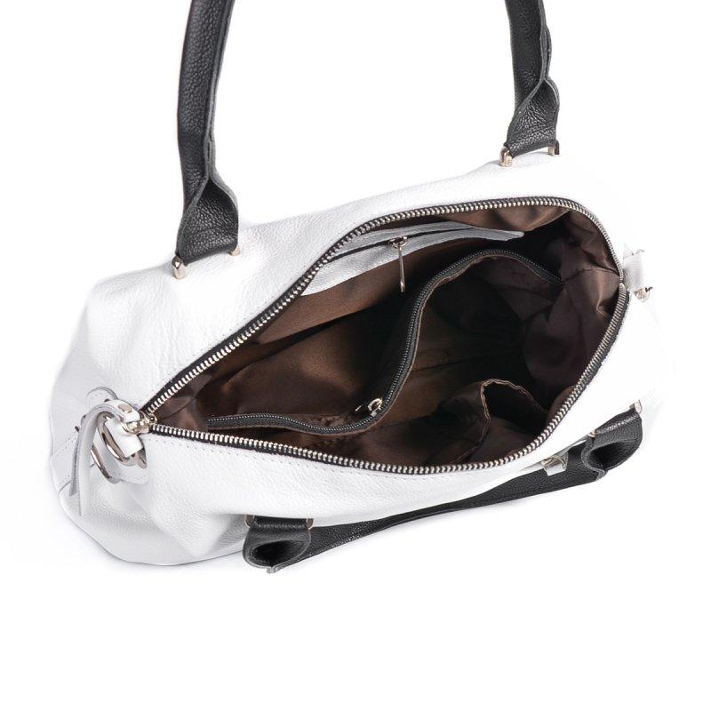 Сумка Женская Классическая кожа М 240 white-black - фото 5