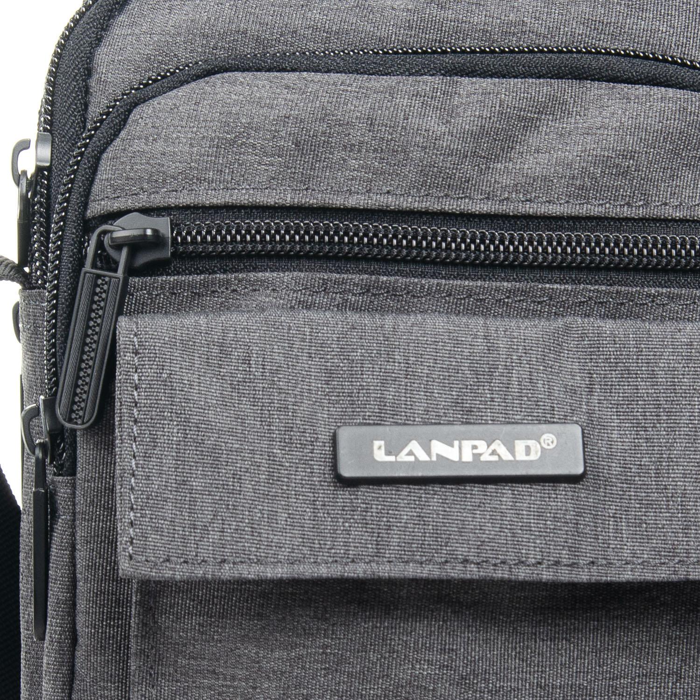 Сумка Мужская Планшет нейлон Lanpad 98772 grey - фото 3