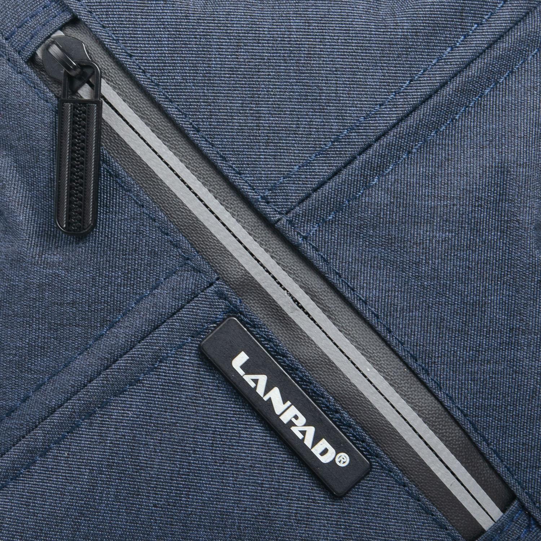 Сумка Мужская Планшет нейлон Lanpad 6290 blue - фото 3