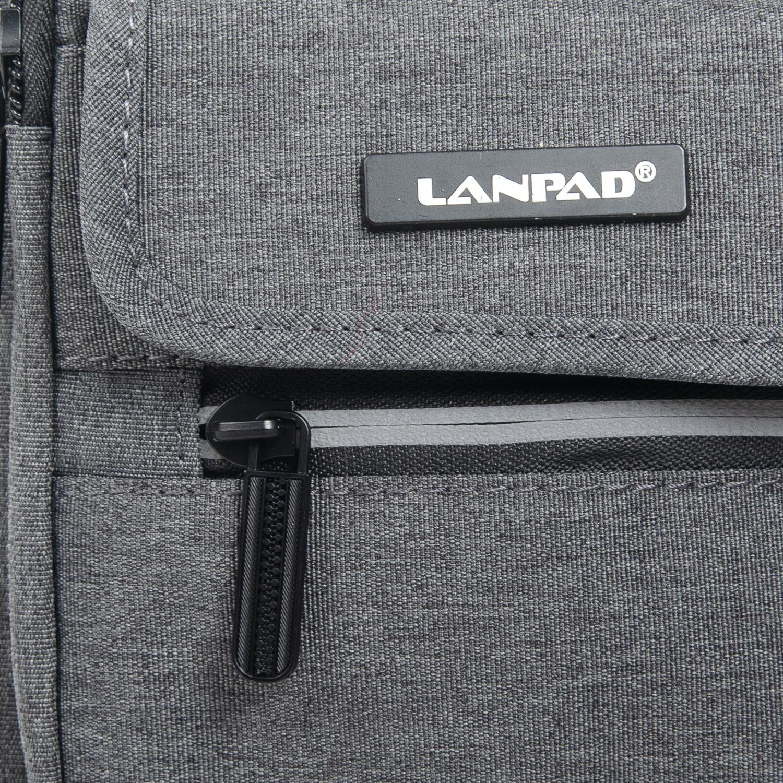 Сумка Мужская Планшет нейлон Lanpad 1898 grey - фото 3