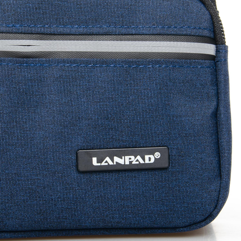 Сумка Мужская На пояс нейлон Lanpad 8289 blue - фото 3