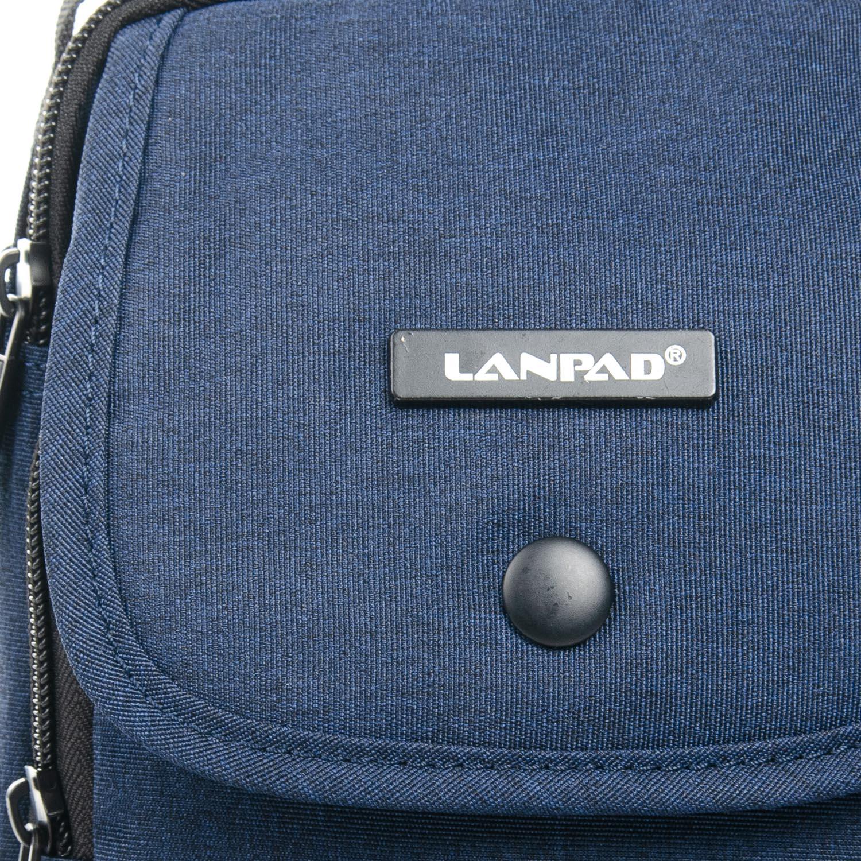 Сумка Мужская Планшет нейлон Lanpad 8347 blue - фото 3