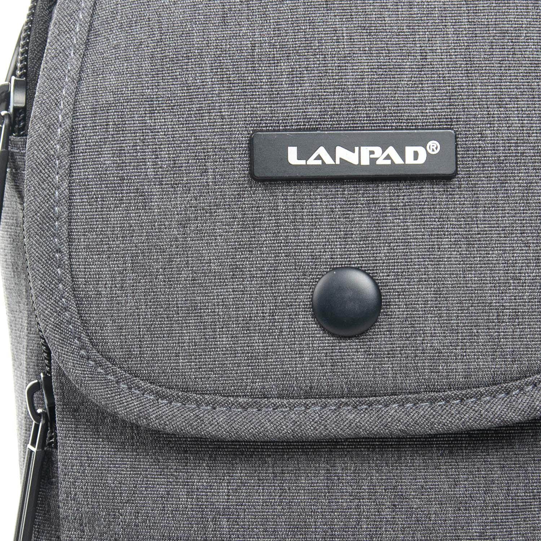 Сумка Мужская Планшет нейлон Lanpad 8347 grey - фото 3