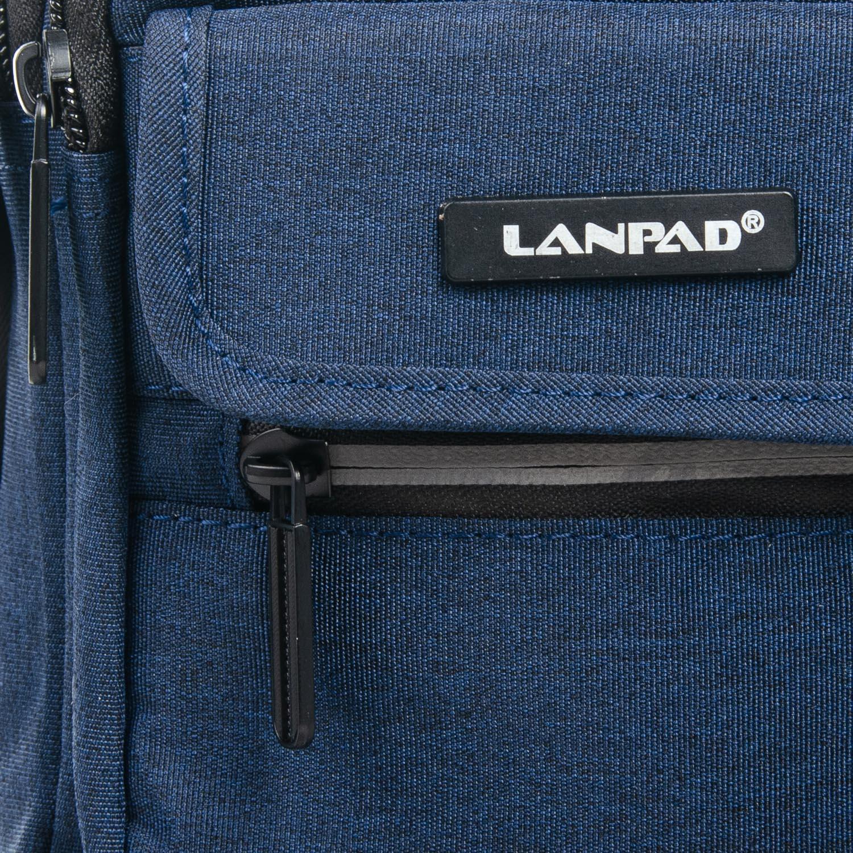 Сумка Мужская Планшет нейлон Lanpad 1898 blue - фото 3