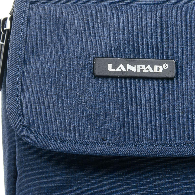 Сумка Мужская Планшет нейлон Lanpad 8338 blue - фото 3