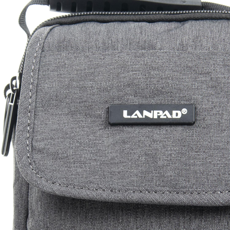 Сумка Мужская Планшет нейлон Lanpad 8338 grey - фото 3