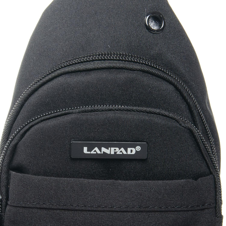 Сумка Мужская На Плечо нейлон Lanpad 3718 black - фото 3
