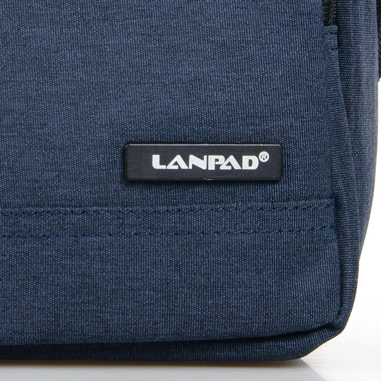 Сумка Мужская Планшет нейлон Lanpad 7632 blue - фото 3