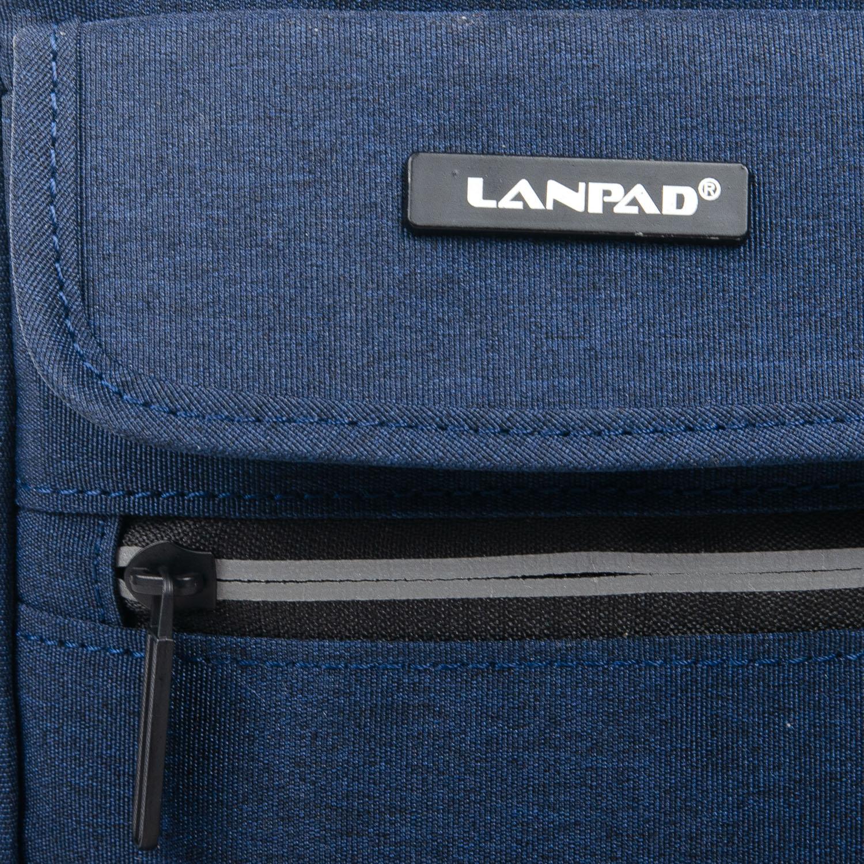 Сумка Мужская Планшет нейлон Lanpad 1897 blue - фото 3