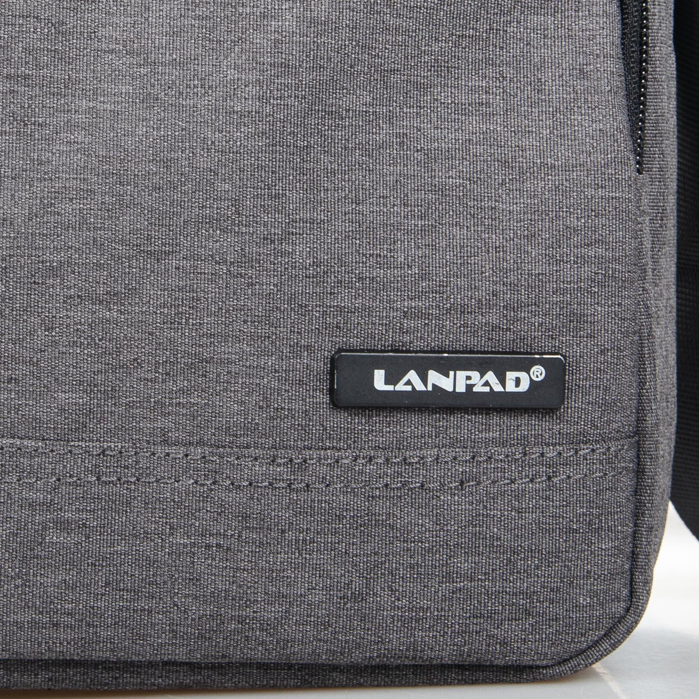 Сумка Мужская Планшет нейлон Lanpad 7632 grey - фото 3