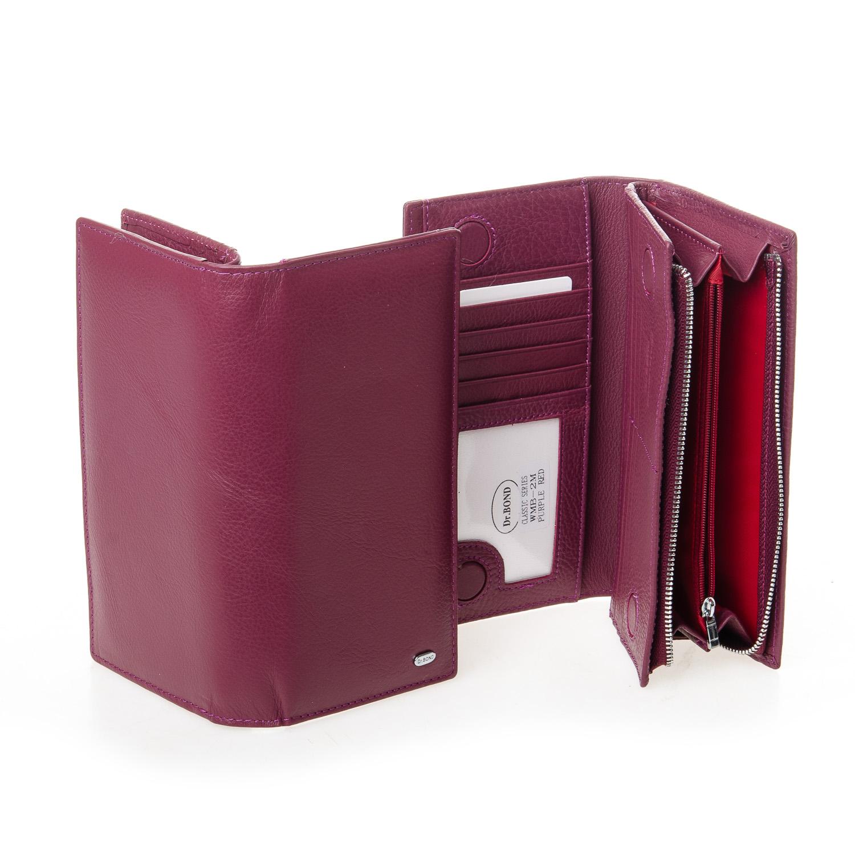 Кошелек Classic кожа DR. BOND WMB-3M purple-red - фото 4