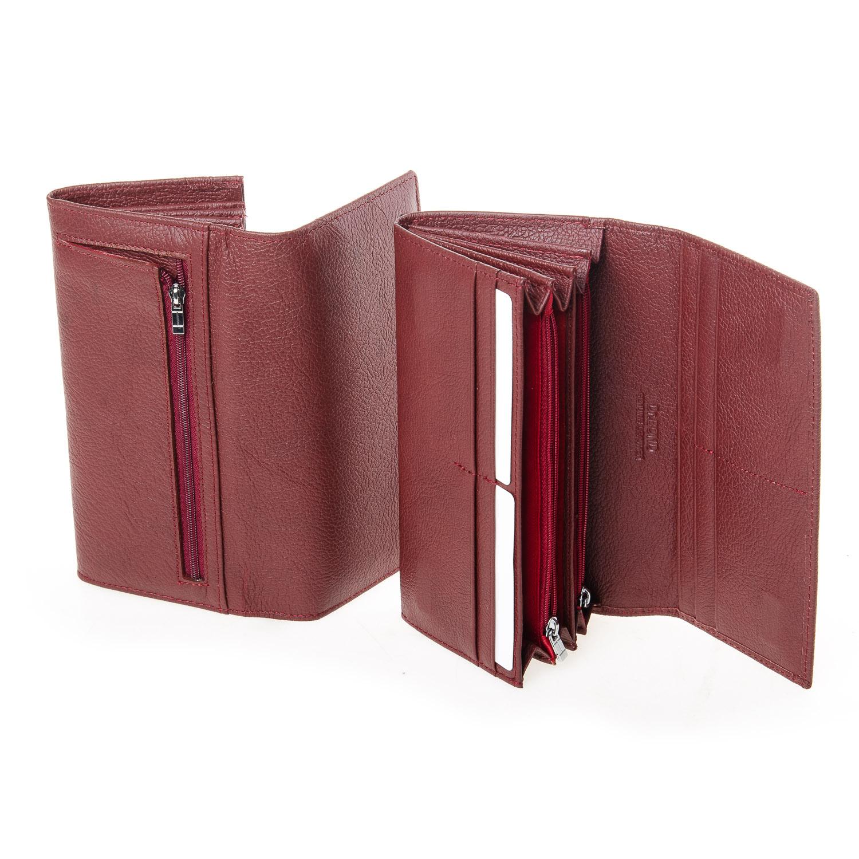 Кошелек Classic кожа DR. BOND W501-2 dark-red - фото 4