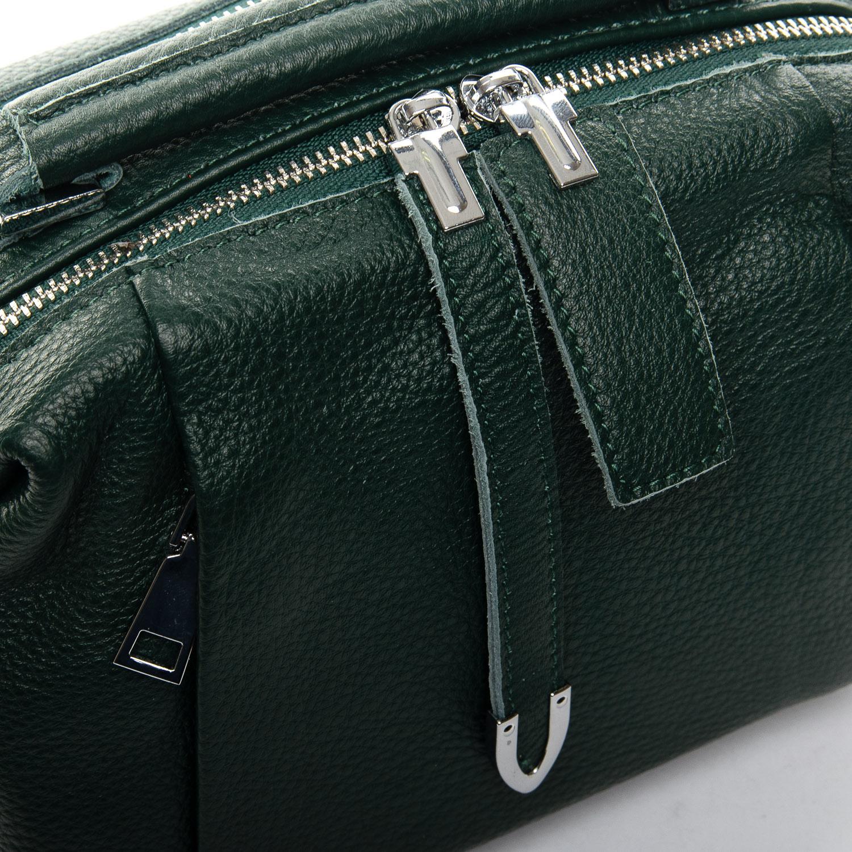 Сумка Женская Классическая кожа ALEX RAI 7-01 8762-9 green - фото 3