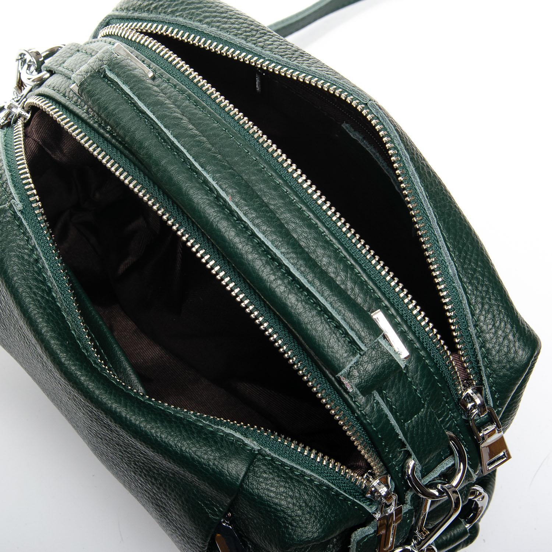 Сумка Женская Классическая кожа ALEX RAI 7-01 8762-9 green - фото 5