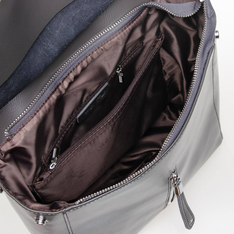 Сумка Женская Рюкзак кожа ALEX RAI 7-02 3206 grey - фото 5