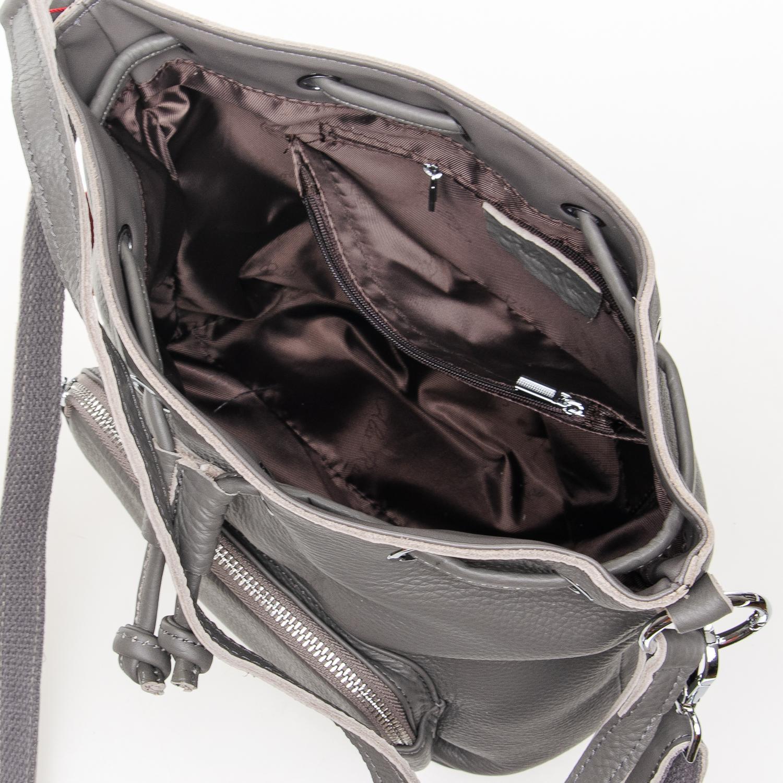 Сумка Женская Классическая кожа ALEX RAI 7-01 7110 grey - фото 5