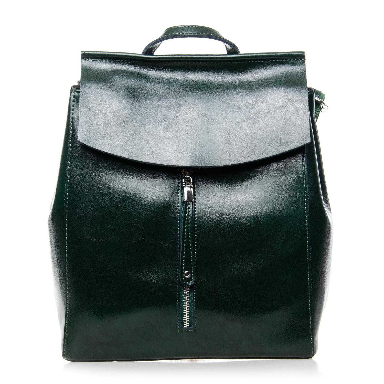 Сумка Женская Рюкзак кожа ALEX RAI 7-02 3206 green