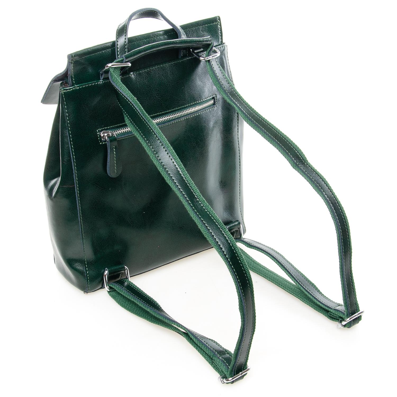 Сумка Женская Рюкзак кожа ALEX RAI 7-02 3206 green - фото 4