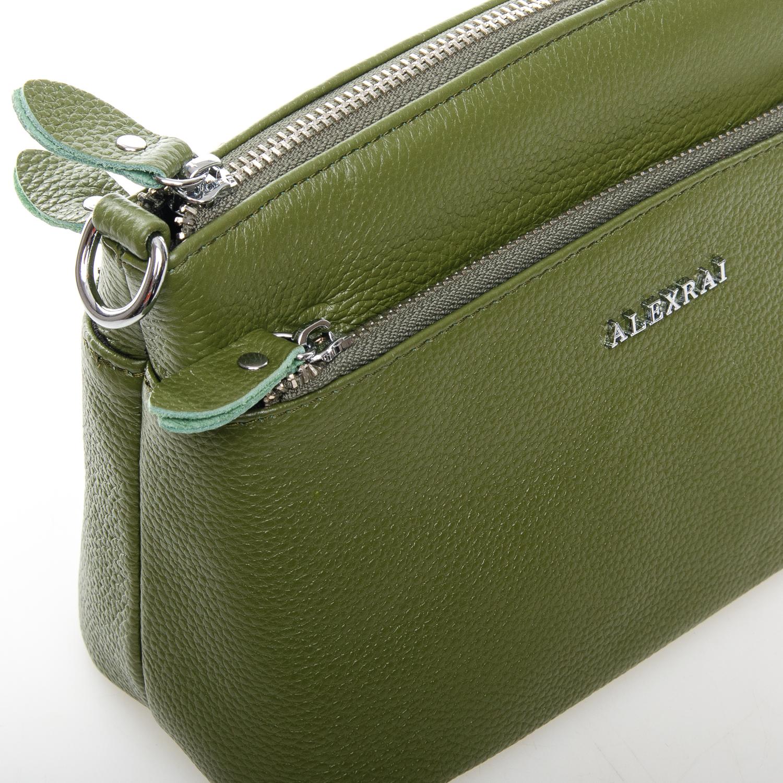 Сумка Женская Клатч кожа ALEX RAI 1-02 2907-8 green - фото 3