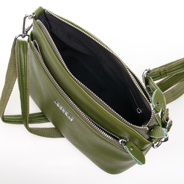 Сумка Женская Клатч кожа ALEX RAI 1-02 2907-8 green - фото 5