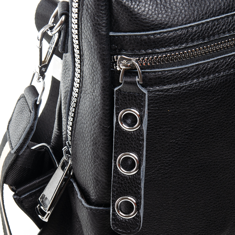 Сумка Женская Рюкзак кожа ALEX RAI 7-02 8781-9 black - фото 3
