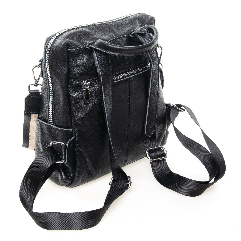 Сумка Женская Рюкзак кожа ALEX RAI 7-02 8781-9 black - фото 4
