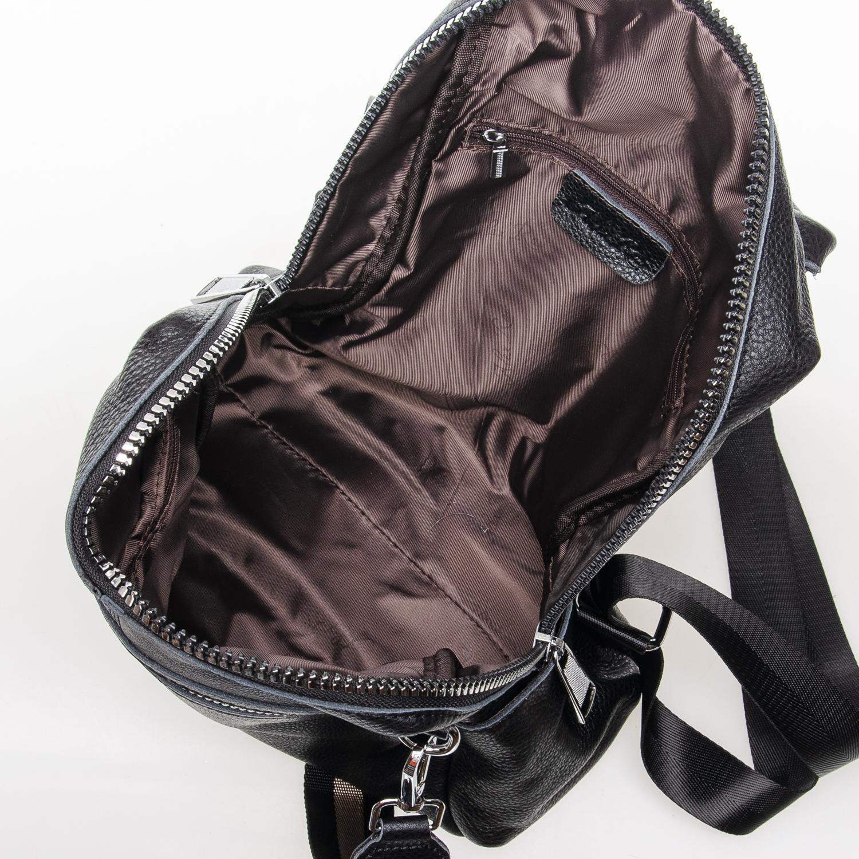 Сумка Женская Рюкзак кожа ALEX RAI 7-02 8781-9 black - фото 5