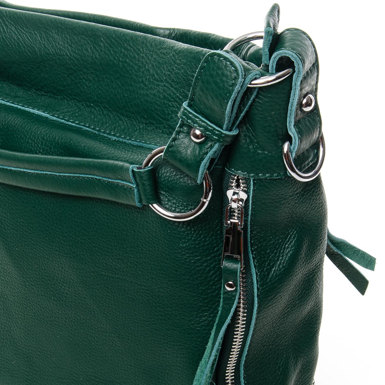 Сумка Женская Классическая кожа ALEX RAI 7-01 8779-9 green - фото 3