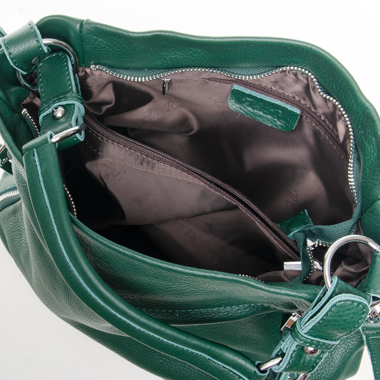 Сумка Женская Классическая кожа ALEX RAI 7-01 8779-9 green - фото 5