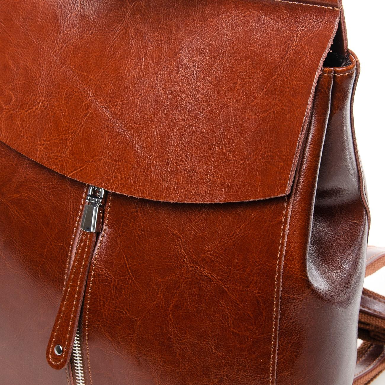 Сумка Женская Рюкзак кожа ALEX RAI 7-02 3206 khaki - фото 5