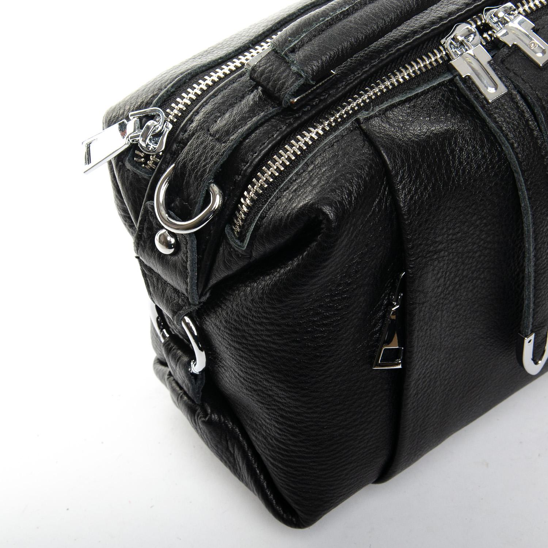 Сумка Женская Классическая кожа ALEX RAI 7-01 8762-9 black - фото 3