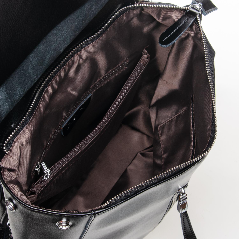 Сумка Женская Рюкзак кожа ALEX RAI 7-02 3206 black - фото 5