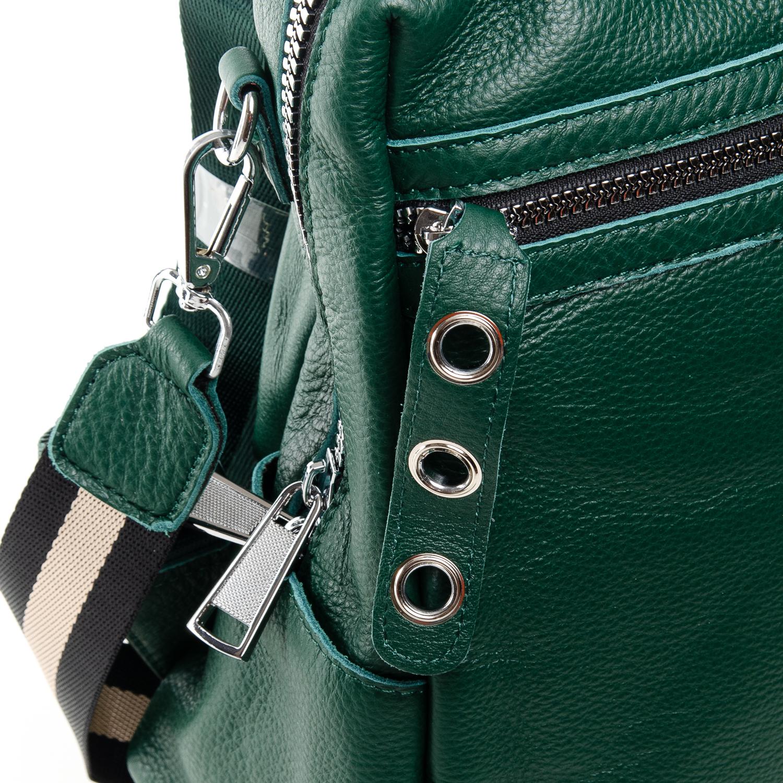 Сумка Женская Рюкзак кожа ALEX RAI 7-02 8781-9 green - фото 3