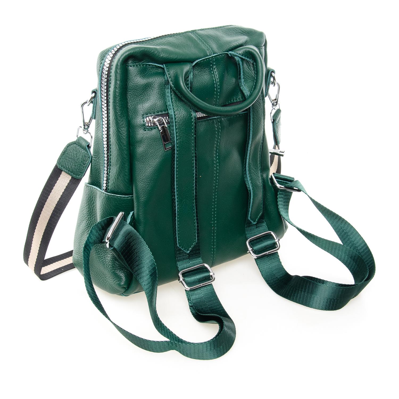 Сумка Женская Рюкзак кожа ALEX RAI 7-02 8781-9 green - фото 4