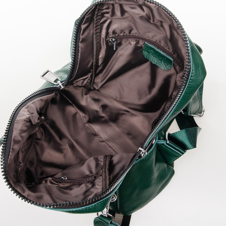 Сумка Женская Рюкзак кожа ALEX RAI 7-02 8781-9 green - фото 5