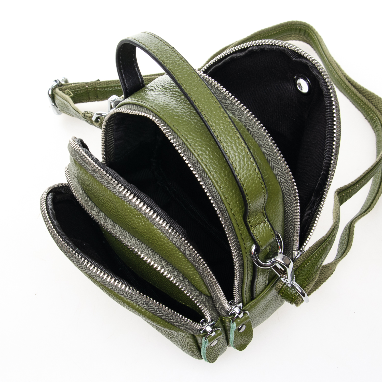 Сумка Женская Клатч кожа ALEX RAI 03-1 3905-8 green - фото 5